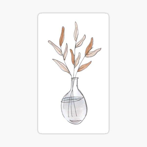 Vase in watercolor Sticker