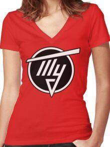 Tupolev Aircraft Logo (Black) Women's Fitted V-Neck T-Shirt