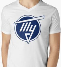 Tupolev Aircraft Logo (Blue) Men's V-Neck T-Shirt
