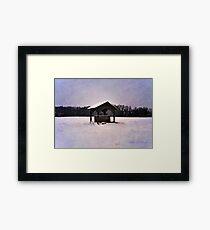 Moonlit Winter Wellspring Framed Print