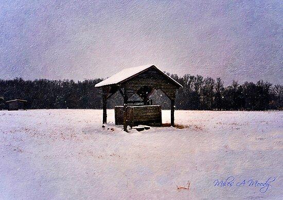 Moonlit Winter Wellspring by Miles Moody