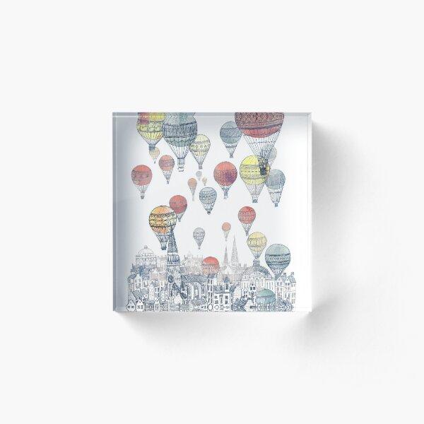 Hot Air Balloons Over Edinburgh  Acrylic Block