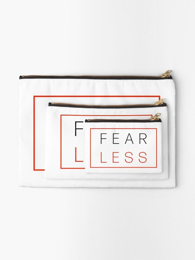 Alternate view of Fear Less Zipper Pouch
