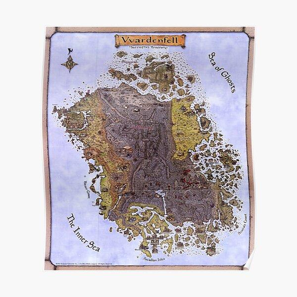 Oblivion map, the elder scroll Poster