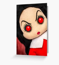 Evil Rag Doll Greeting Card