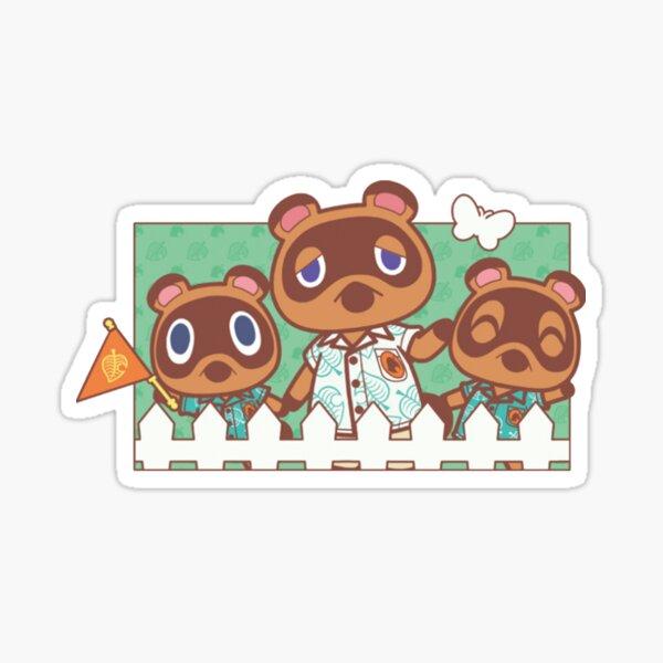 not animal crossing tom nook family Sticker