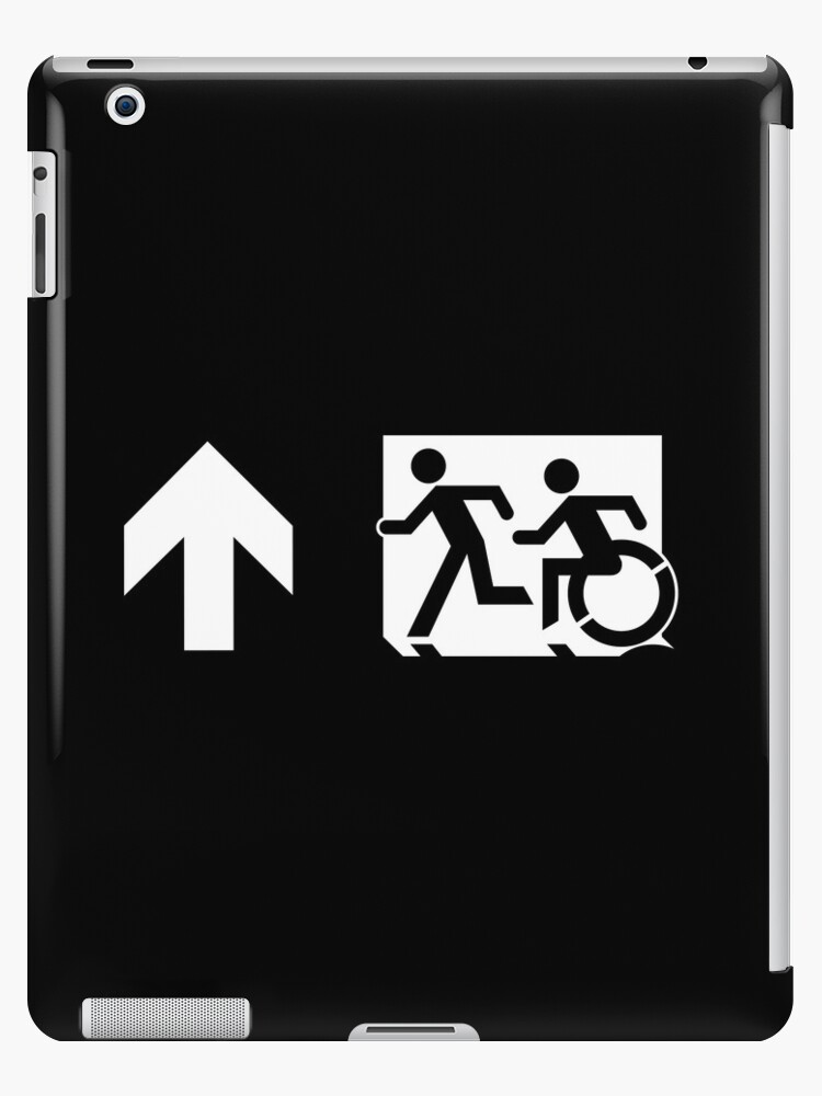Accessible Means of Egress Icon and Running Man Emergency Exit Sign, Left Hand Up Arrow by Egress Group Pty Ltd
