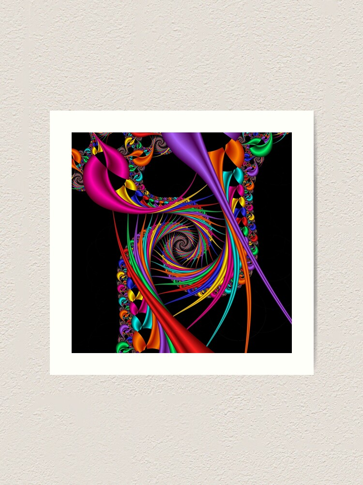 Alternate view of Braiding Rainbows Art Print