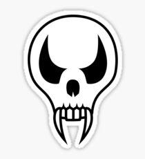 Cartoon Vampire Skull Sticker
