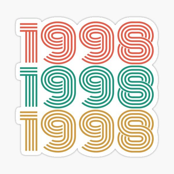 1998: Vintage 1998 Birthday gift Sticker