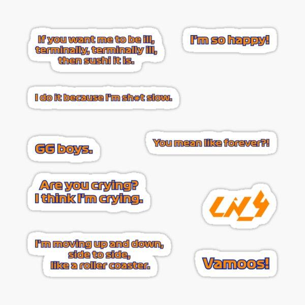 Paquete de pegatinas de citas de Lando Norris Pegatina