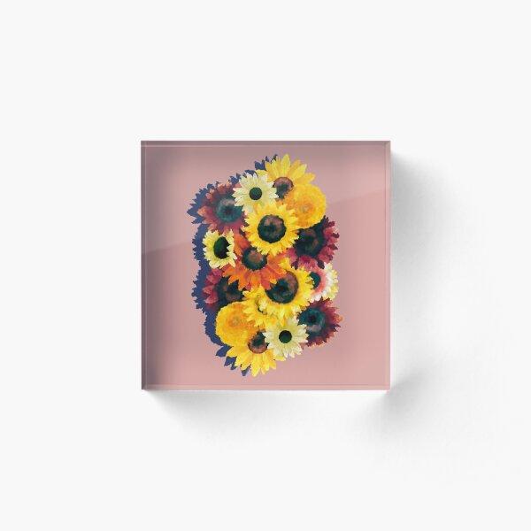 Sunflowers Acrylic Block
