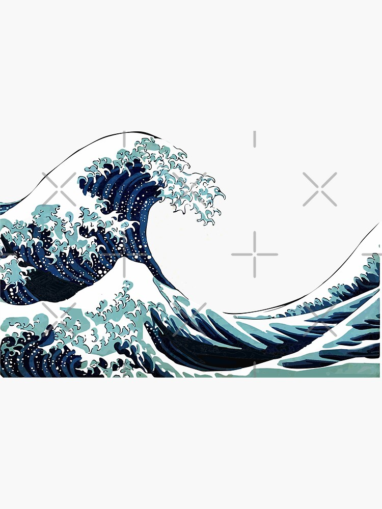 JUST ANOTHER GREAT WAVE STICKER by carlarmes