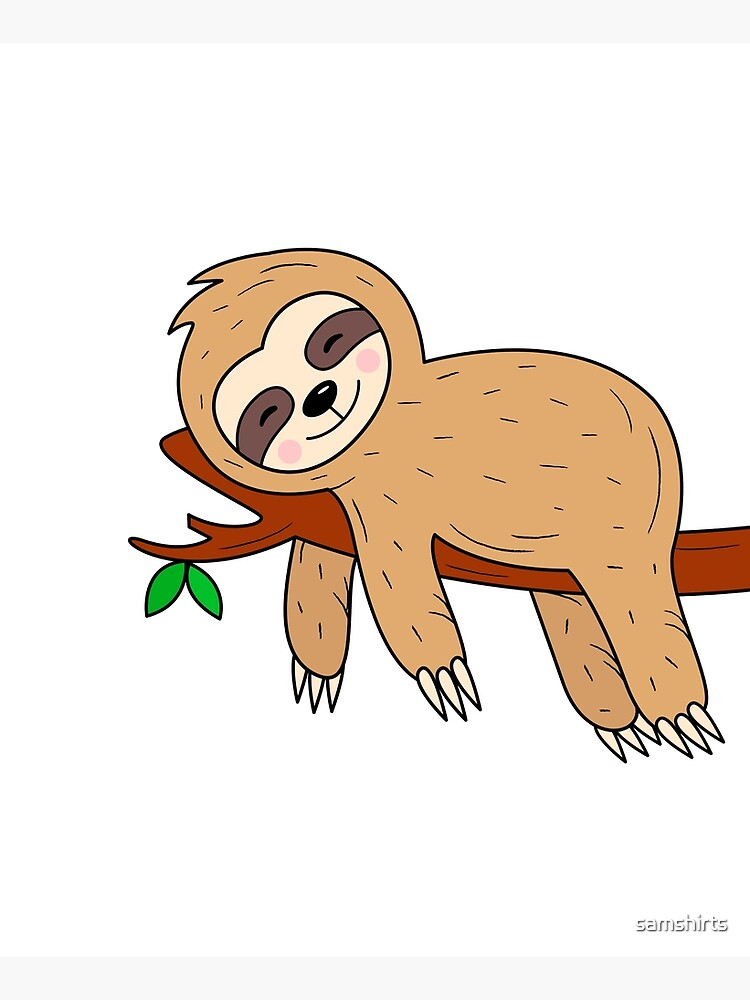 Funny sloth on tree by samshirts