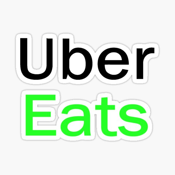100 Stickers UBER Eats Driver Review Stickers