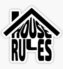 House Rules [Beer Pong Shirt] Sticker