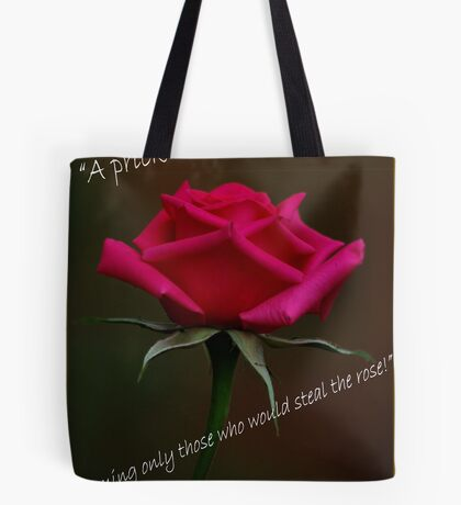 PRICKLY ROSES Tote Bag