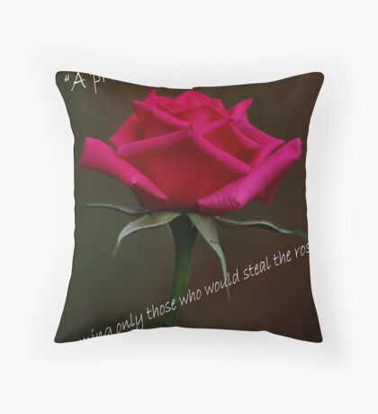 PRICKLY ROSES Throw Pillow