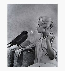Tippi Hedren having her cigarette lit by a crow on the set of The Birds Photographic Print