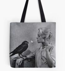 Tippi Hedren having her cigarette lit by a crow on the set of The Birds Tote Bag