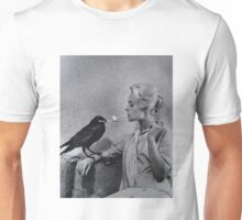 Tippi Hedren having her cigarette lit by a crow on the set of The Birds Unisex T-Shirt
