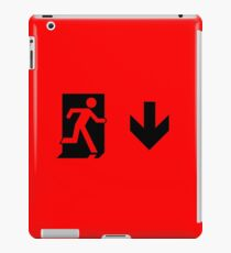 Running Man Emergency Exit Sign, Right Hand Down Arrow iPad Case/Skin