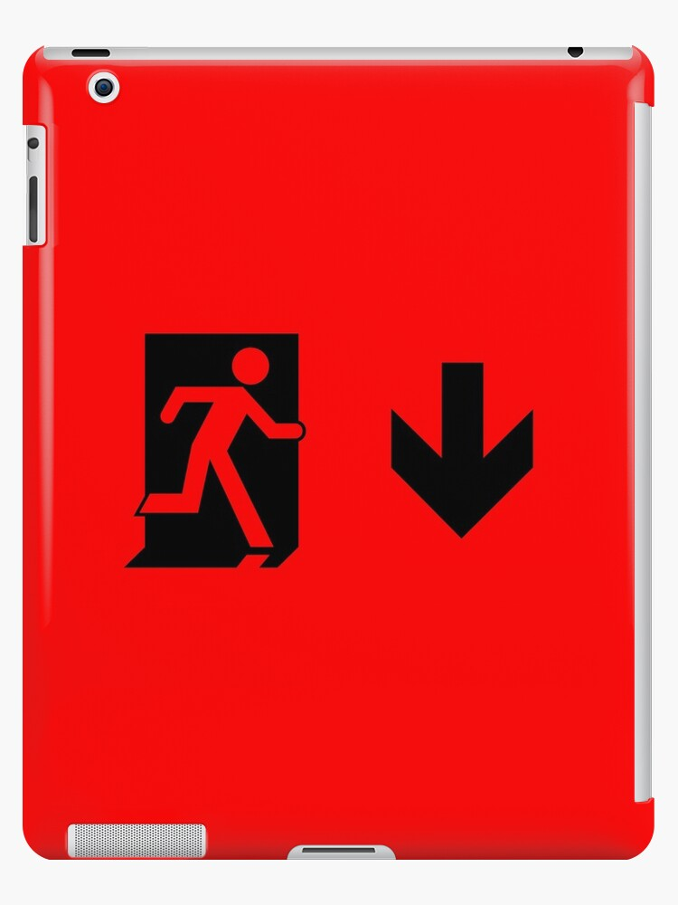 Running Man Emergency Exit Sign, Right Hand Down Arrow by Egress Group Pty Ltd