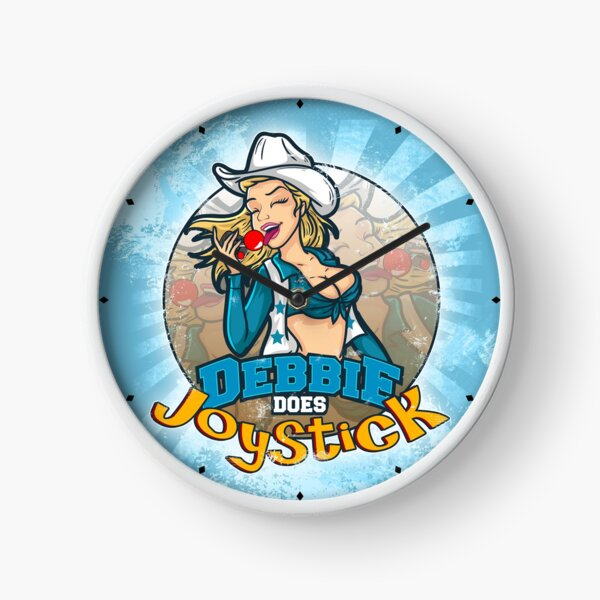 Cheerleader Pin-up Clock - Debbie Does Joystick (adult film parody) Clock