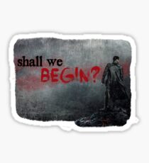 """Shall we begin?"" Khan from Star Trek: Into Darkness Sticker"
