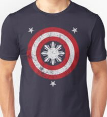 2e6ea32a Captain Philippines! (Grunge White Sun) Slim Fit T-Shirt
