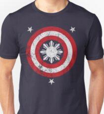 Captain Philippines! (Grunge White Sun) Slim Fit T-Shirt