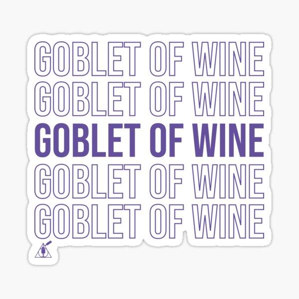 Goblet of Wine Sticker