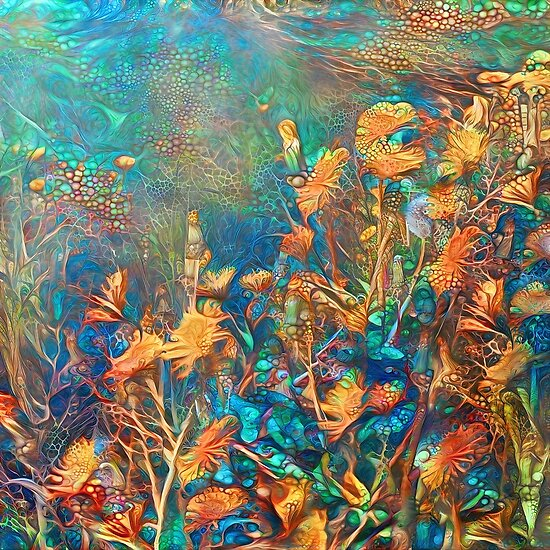 Underwater floral abstract