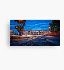 City Lights - Colosseum at night Canvas Print