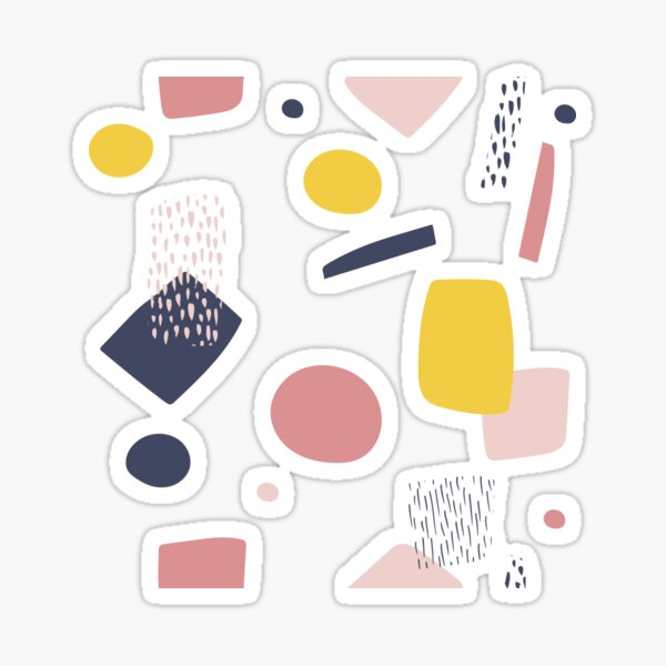 Abstract Shapes Sticker