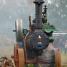 Divide County Threshing Show (Old Steam Tractor) by Jerry Walter