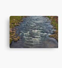 Rapids in the River Steinlach, Tübingen Canvas Print