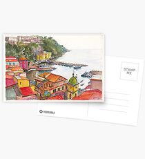Sorrento Harbour, Bay of Naples, Italy Postcards