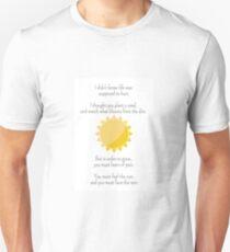 """""""Face The Rain"""" POEM T-Shirt"""