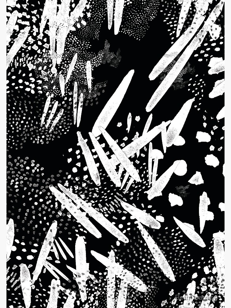 Seed pattern black by BethQuarmby
