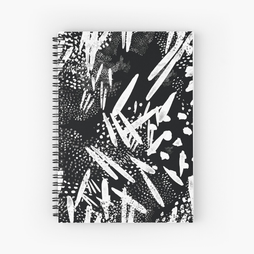Seed pattern black Spiral Notebook