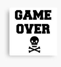 Game Over Skull & Crossbones Canvas Print