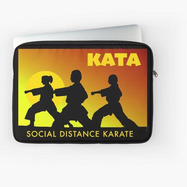 Social Distance Karate Laptop Sleeve