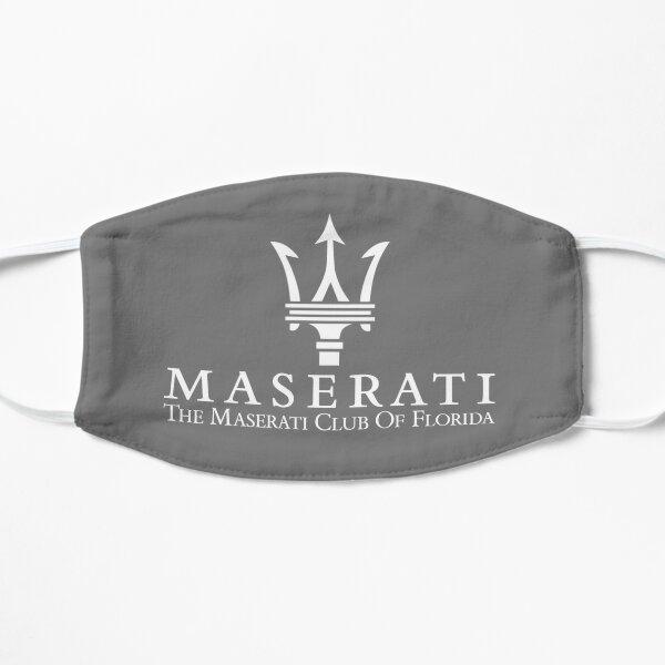 Masque Maserati Club of Florida-2 / Blanc sur gris Masque sans plis