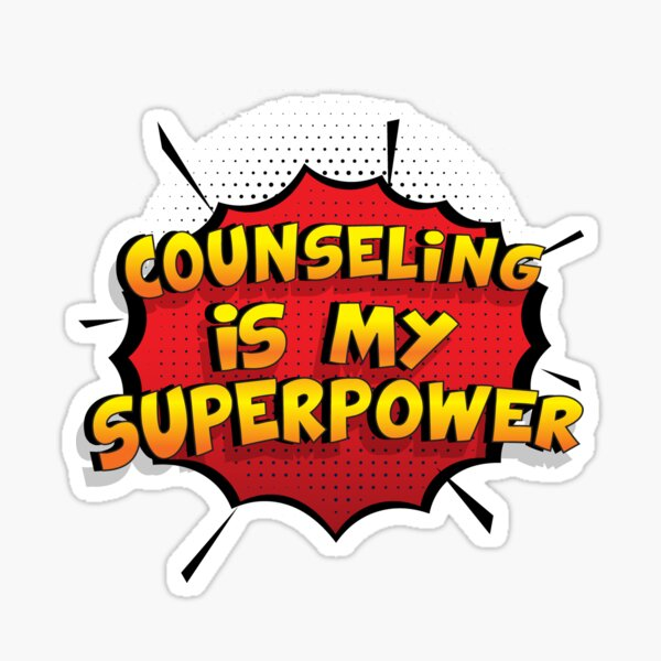 Counseling es mi superpoder dise�o divertido Counseling regalo Pegatina