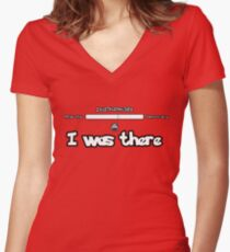 I was there - Twitchplayspokemon Women's Fitted V-Neck T-Shirt