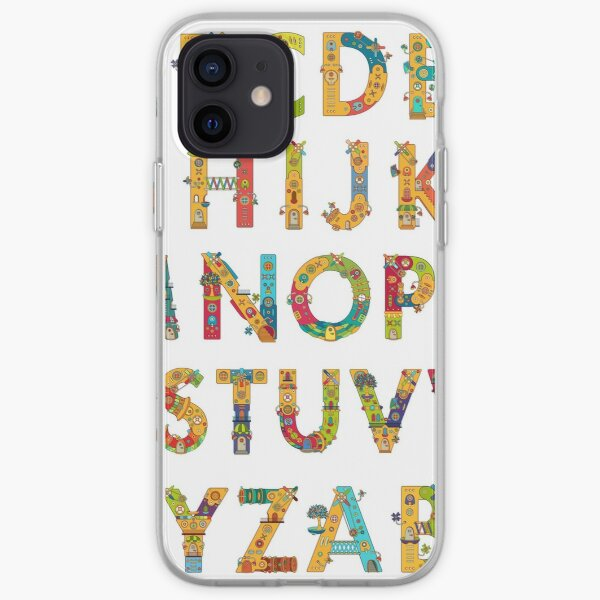 AlphaPod Letters in White iPhone Soft Case