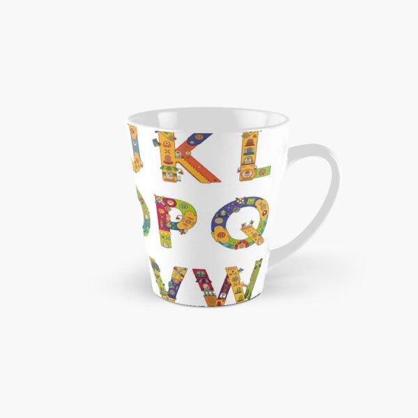 AlphaPod Letters in White Tall Mug