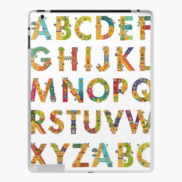 AlphaPod Letters in White iPad Skin