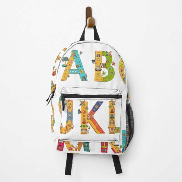 AlphaPod Letters in White Backpack
